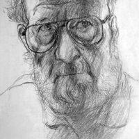 George Wallace - Self Portrait, pencil
