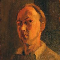 George Wallace - Self Portrait, c.1945, oil painting on board