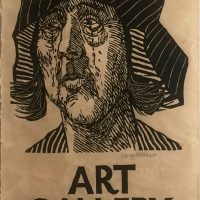 George Wallace, Sculpture & Graphics Exhibition Poster - Art Gallery of Hamilton, 1983, woodcut