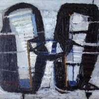 George Wallace - Joined Forms, c.1956, oil painting on board