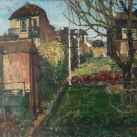 George Wallace - The Back Garden, Falmouth, 1952, oil painting on canvas