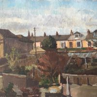 George Wallace - Falmouth Back Gardens, 1951, oil painting on canvas