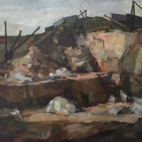 George Wallace - Quarry, c.1947, oil painting on canvas