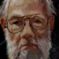 George Wallace - Self Portrait, oil painting on board