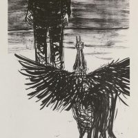 George Wallace - Peter and the Cock, 1954, lithograph