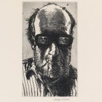 George_Wallace - Self Portrait with Dark Glasses, 1995, etching & aquatint