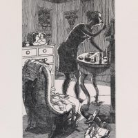 George_Wallace - Morning Toilet, plate #1, 1995, etching