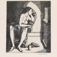 George_Wallace - Breakfast, plate #2, 1995, etching & aquatint