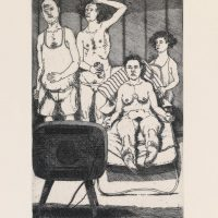 George_Wallace - Happy Hour, plate #8, 1995, etching