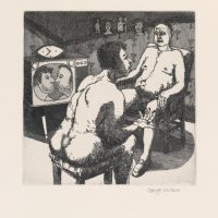 George_Wallace - Philosophic Discussion, plate #9, 1995, etching & aquatint