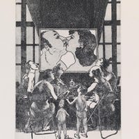 George_Wallace - Evening Meal or the Apotheosis of TV, plate #10, 1995, etching & aquatint