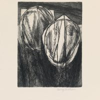George Wallace - St. Austell Remembered Plate #7, Interlocking Pits, 1997, etching
