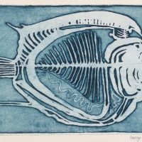 George Wallace - Fish, 1955, deep etch