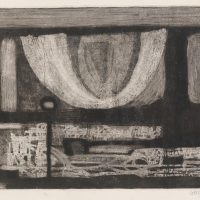 George Wallace - Clay Pit, 1955, etching, aquatint & drypoint