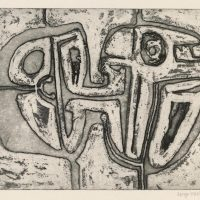 George Wallace - Joined Forms, 1956, etching & deep etch