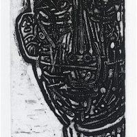 George Wallace - Burnt Man, 1961, deep etch