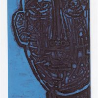 George Wallace - Burnt Man, 1961, deep etch, 1988 red over blue