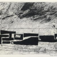 George Wallace - Fortifications in a Landscape, 1957, etching & aquatint