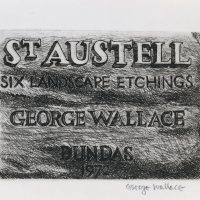 George Wallace - St. Austell Title Page, 1972, hard ground etching