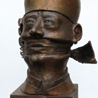 "George Wallace - Bronze Head 4, ""The Priest"""