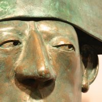 "George Wallace - Bronze Head 7, ""The Green Policeman"""