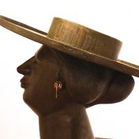 "George Wallace - Bronze Head 8, ""The Woman with the Hat"""
