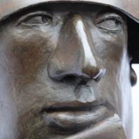 "George Wallace - Bronze Head 9, ""State Security"", detail"