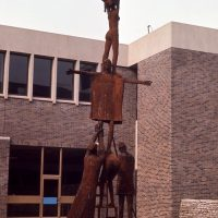 George Wallace - Educational Experiment, 1969, welded corten steel