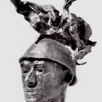 George Wallace - Head of a Mercenary, 1969, bronze