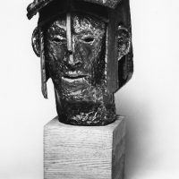George Wallace - Head of an Old Gladiator, 1974, welded steel