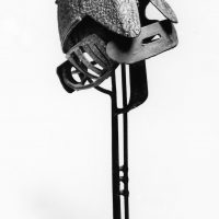 George Wallace - Helmeted Head, 1960, welded steel