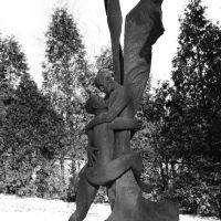 George Wallace - Jacob Wrestling the Angel, 1977, welded corten steel