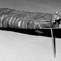 George Wallace - Man on a Broken Cot, 1973, welded steel