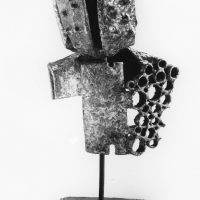 George Wallace - Metamorphosized Head, 1961, welded steel, nickel brazed