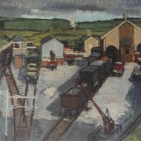 George Wallace - Penryn Station Yard, c.1948, oil painting on board