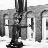 George Wallace - St John and the Angel, 1968, welded corten steel