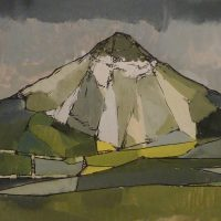 George Wallace - St Austell Clay Pit, c.1955, gouache