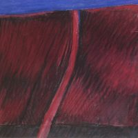 George Wallace - Abstract Landscape #15, pastel