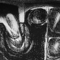 George Wallace - Dark Landscape, 2nd state, 2002, hard and soft ground etching