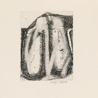 George Wallace - St. Austell Remembered Plate #5, 1972, etching & sandpaper aquatint with extensive re-etching in 1997