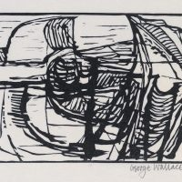 George Wallace - Pit - 1974 - woodcut