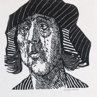 George Wallace - Weeping Woman, 1983, woodcut