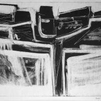 George Wallace - Abstract Landscape #1, monotype
