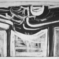 George Wallace - Abstract Landscape #4, monotype