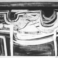 George Wallace - Abstract Landscape #7, monotype