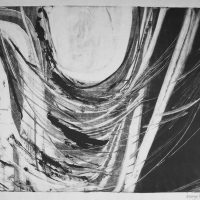 George Wallace - Abstract Landscape #9, monotype,