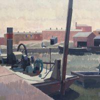 George Wallace - Bristol Harbour, 1947, gouache