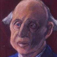 George Wallace - Chairman of the Board of Stabit & Squirm, 1994, pastel over watercolour