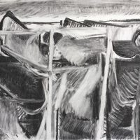 George Wallace - St. Austell Claypits, charcoal #10