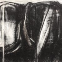 George Wallace - Twin Forms, charcoal #11